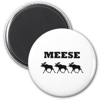 Three Meese Funny 6 Cm Round Magnet