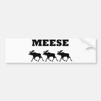 Three Meese Funny Bumper Sticker