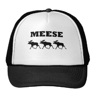 Three Meese Funny T-Shirt Cap