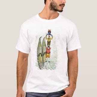 Three men balancing on two gondolas, 1772 T-Shirt