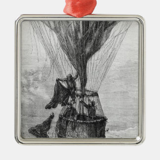 Three Men in a Gondola Christmas Ornament