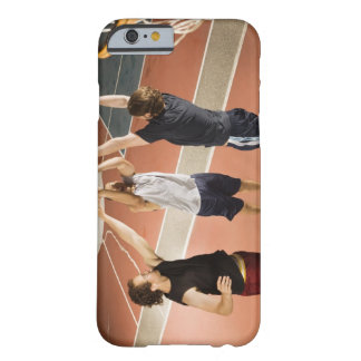three men in athletic clothing playing barely there iPhone 6 case