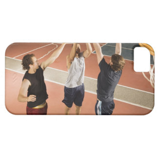 three men in athletic clothing playing barely there iPhone 5 case