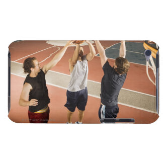 three men in athletic clothing playing iPod touch Case-Mate case