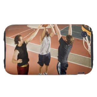 three men in athletic clothing playing iPhone 3 tough cases