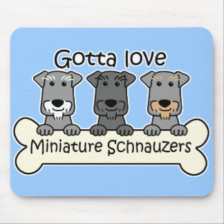 Three Miniature Schnauzers Mouse Mat