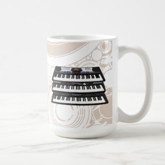 Three Modern Keyboards: Synthesizers: Coffee Mug