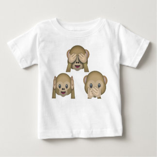 Three Monkey Emoji Baby Tshirt. Baby T-Shirt