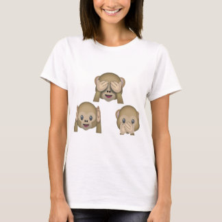 Three Monkey Emoji TShirt. T-Shirt