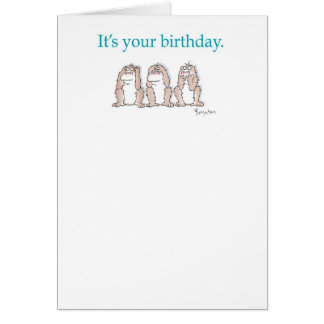THREE MONKEYS CARD