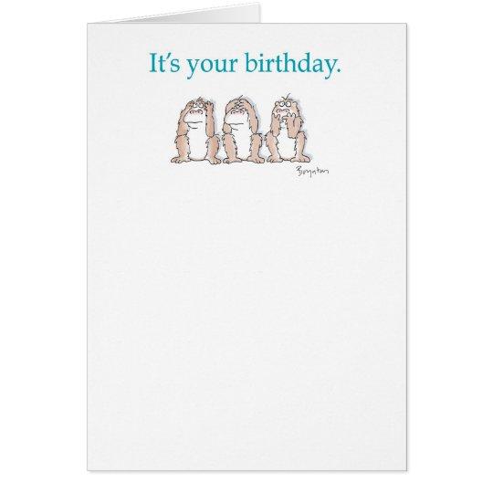 THREE MONKEYS GREETING CARD