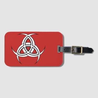 Three Moon Luggage Tag with Business Card Slot
