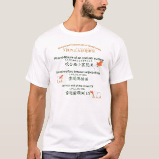 Three most frequent site of dental caries english T-Shirt