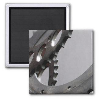 Three Motorcycle Gears Fridge Magnet