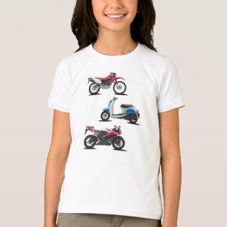 Three Motorcycles Girls T-Shirt
