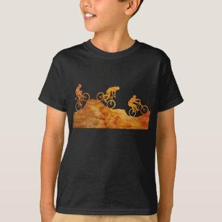 Three Mountain Bikers on a Hill T-Shirt