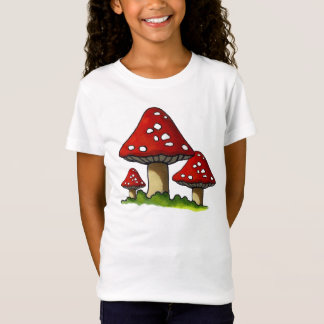 Three Mushrooms, Toadstools: Original Art T-Shirt