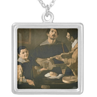 Three Musicians, 1618 Silver Plated Necklace