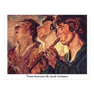 Three Musicians By Jacob Jordaens Postcard