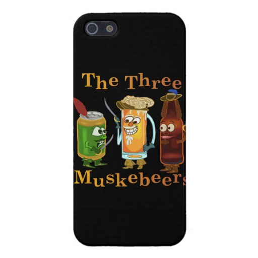 Three Muskebeers Funny Beer Pun Cases For iPhone 5