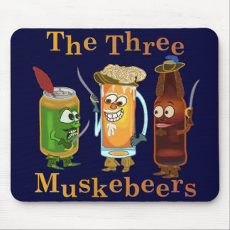 Three Muskebeers Funny Beer Pun Mouse Pads
