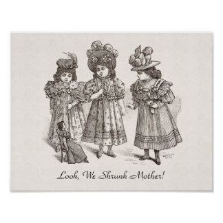 Three Naughty Sisters - Look, We Shrunk Mother Poster