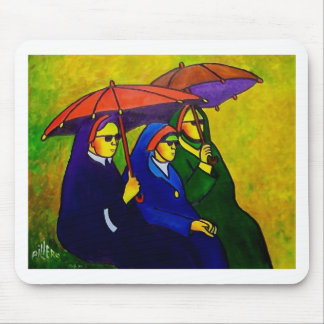 Three Nuns by piliero Mouse Mat