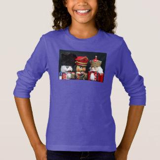 Three nutcrackers on black girl's sweatshirt