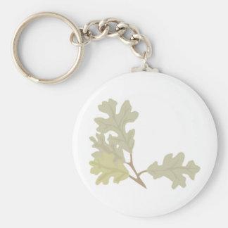 Three Oak Leaves Key Ring