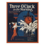 Three O'Clock in the Morning Songbook Cover Poster