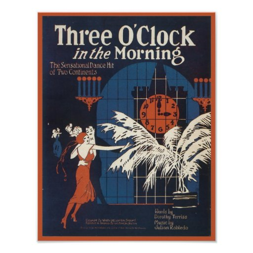 Three O'Clock in the Morning Songbook Cover Posters