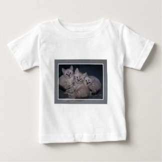 Three of a Kind Lynx Point Siamese Kittens Baby T-Shirt
