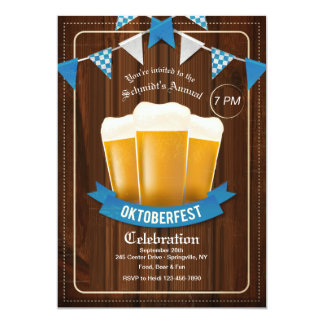 Three Oktoberfest Beers Invitation