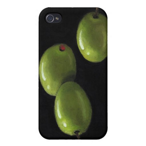 Three Olives in Oil Pastel Case For iPhone 4