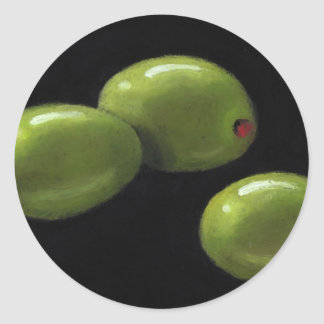 Three Olives in Oil Pastel Sticker
