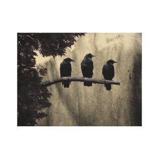Three On A Tree Canvas Print