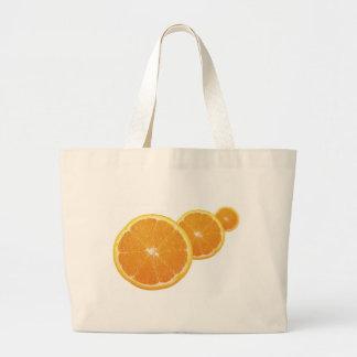 Three Orange Slices Jumbo Tote Bag