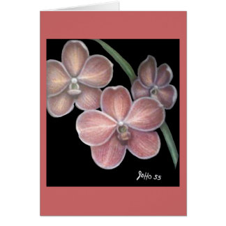 Three Orchids Great Grandpa 55' blank card