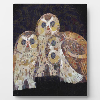 Three Owls - Art Nouveau Inspired by Klimt Plaque