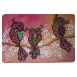 three owls floor mat