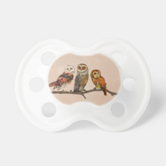 THREE OWLS IN A ROW  Pacifier