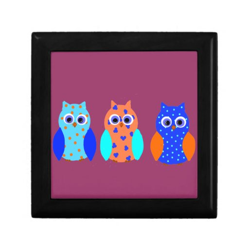 Three Owls on multiple products Trinket Boxes