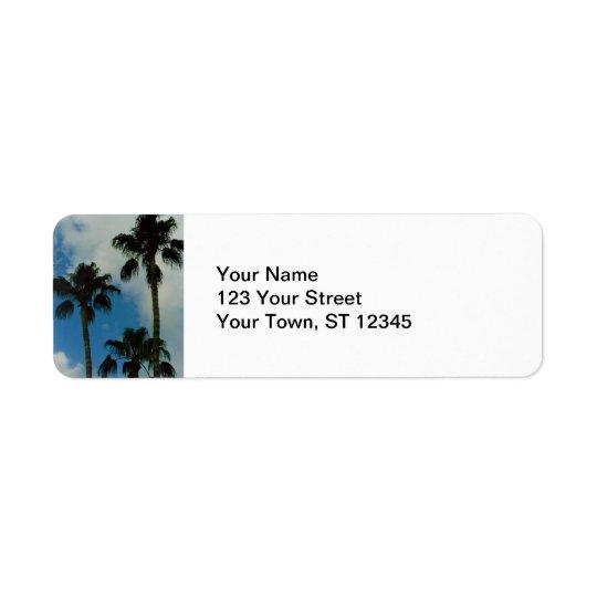 Three Palms Return Address Label