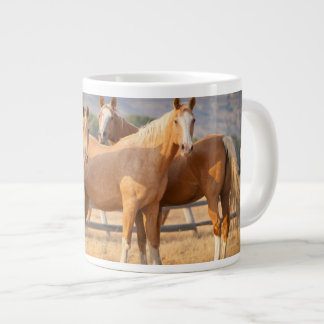 Three Palomino Ponies Large Coffee Mug