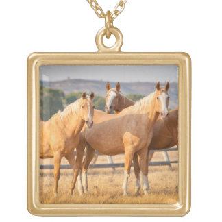 Three Palomino Ponies Custom Necklace
