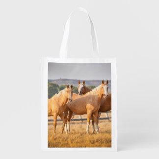 Three Palomino Ponies Reusable Grocery Bag