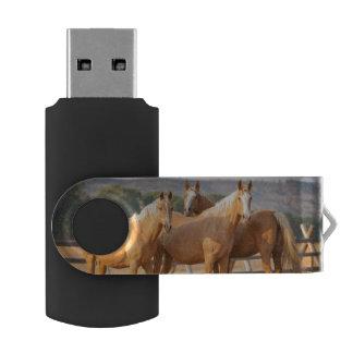 Three Palomino Ponies USB Flash Drive