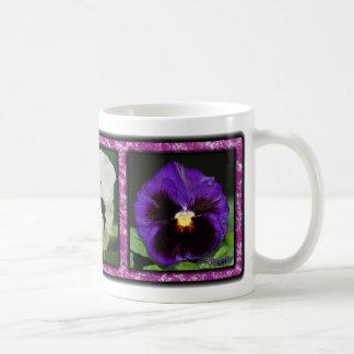 Three Pansies 01 Coffee Mug