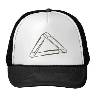 Three paper clips interlinked cap
