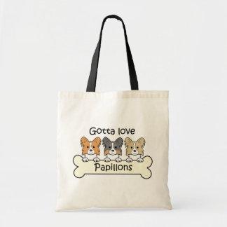 Three Papillons Budget Tote Bag